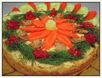 Savory Wild Salmon-Dill Cheesecake