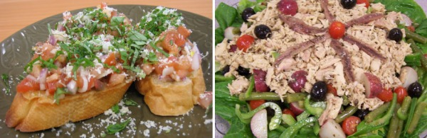 Pictured: Bruschetta with Anchovies and Tuna Salad Nicoise (Photos by Lisa Sabatino / Crown Prince)