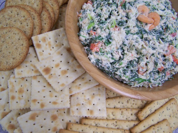 Spinach, Shrimp and Cheese Dip