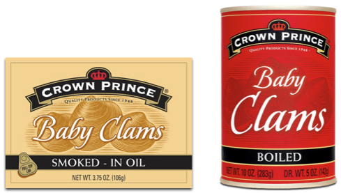 Crown Prince Seafood Baby Clams