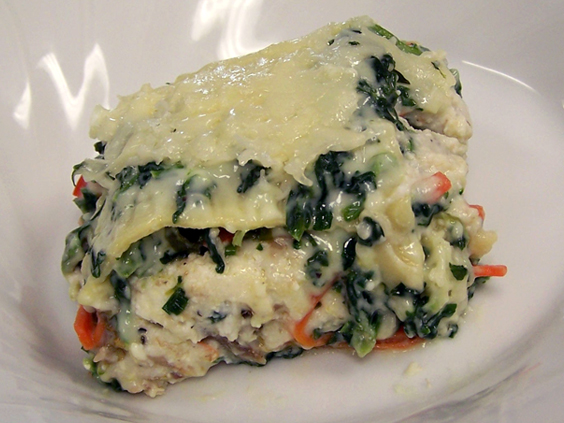 Four-Cheese Seafood Lasagna