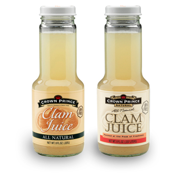 Our Clam Juice is imported from Holland. This pantry staple is sourced from clam beds managed for sustainable harvests in the clear waters of Holland's Waddenzee (Wadden Sea.)