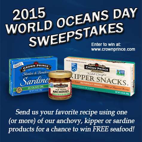 Crown Prince Seafood 2015 World Oceans Day Sweepstakes